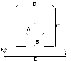 Hearth and Back Pannel Dimensions Diagram