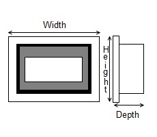 Wall Mounted Dimensions Diagram